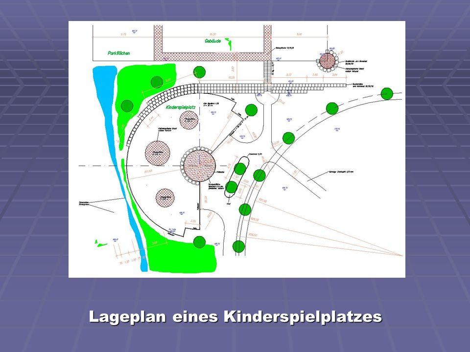 Lageplan eines Kinderspielplatzes