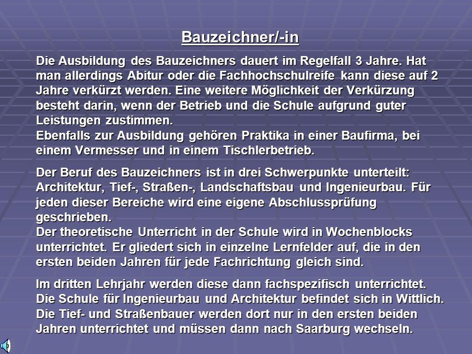 Bauzeichner/-in