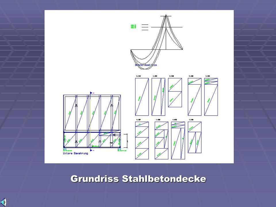 Grundriss Stahlbetondecke