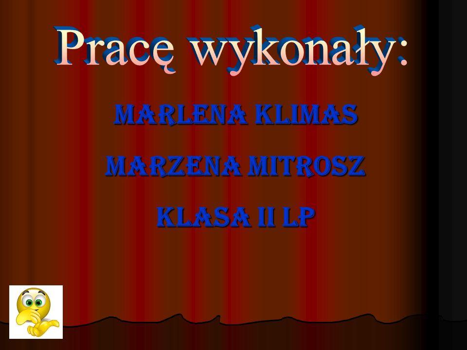 Marlena Klimas Marzena Mitrosz Klasa II LP