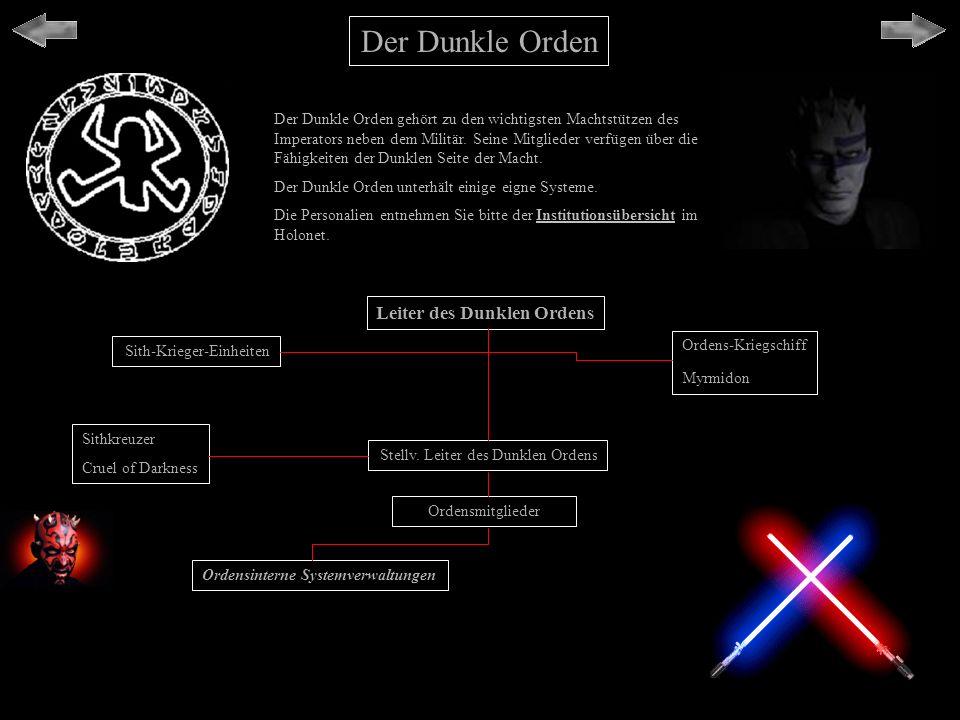 Der Dunkle Orden Leiter des Dunklen Ordens