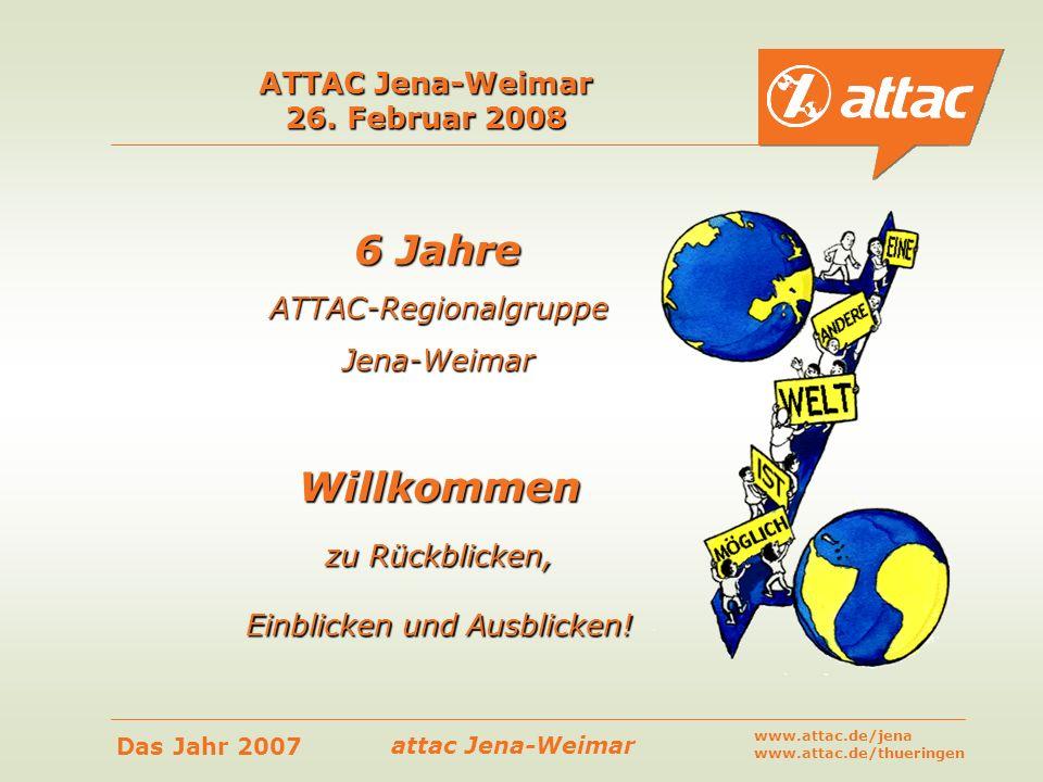 ATTAC Jena-Weimar 26. Februar 2008
