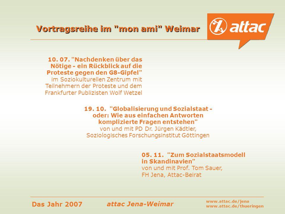 Vortragsreihe im mon ami Weimar