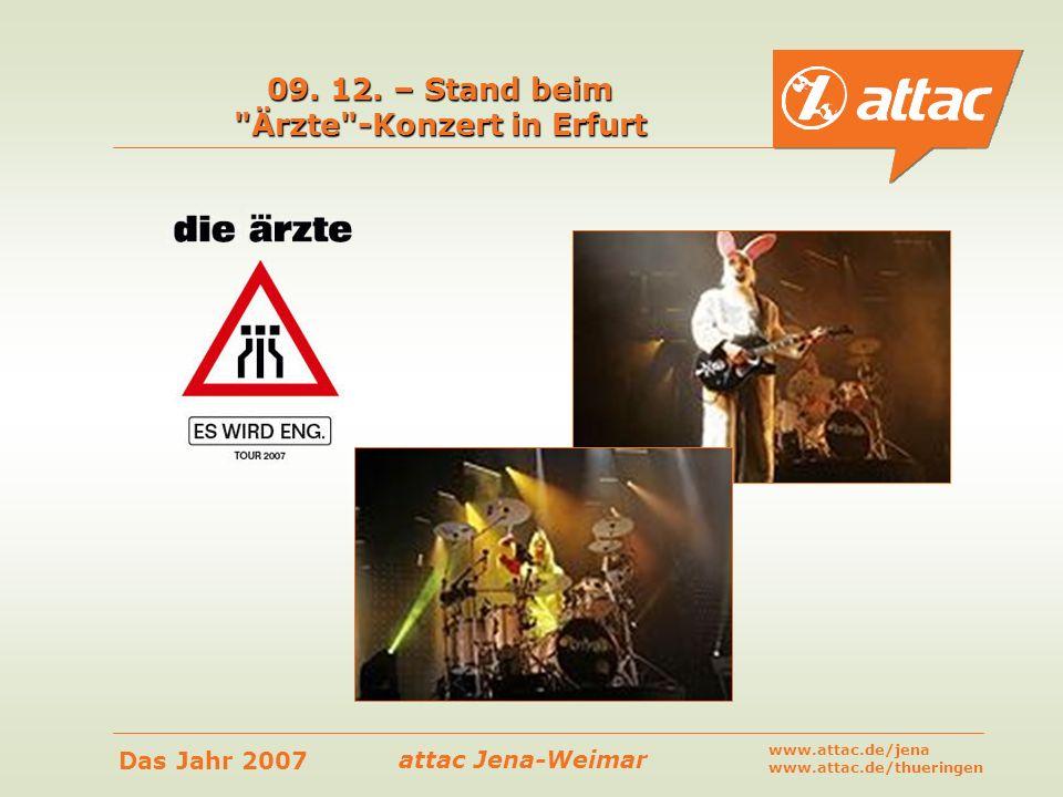 09. 12. – Stand beim Ärzte -Konzert in Erfurt