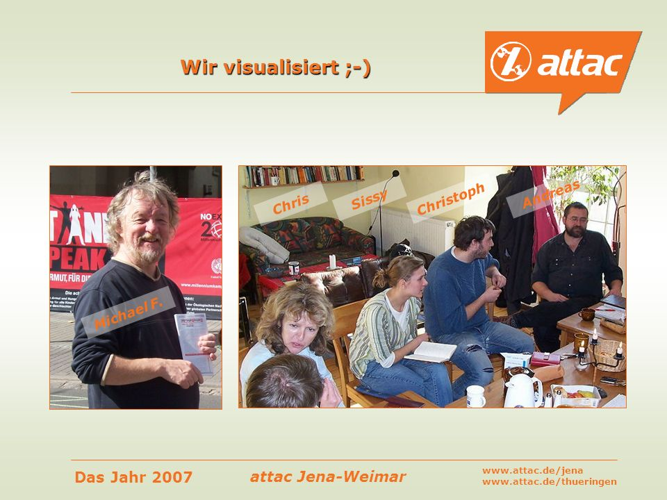 Wir visualisiert ;-) Andreas Christoph Sissy Chris Michael F.