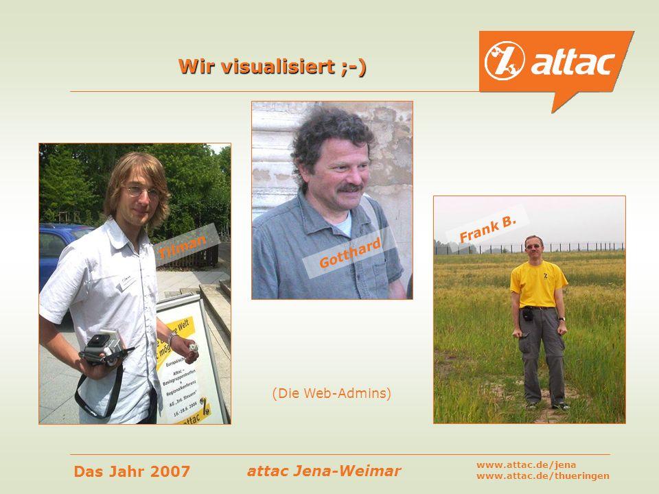 Wir visualisiert ;-) Frank B. Tilman Gotthard (Die Web-Admins)