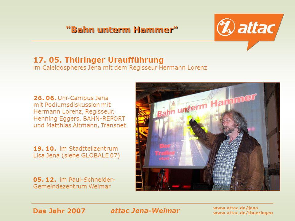 Bahn unterm Hammer 17. 05. Thüringer Uraufführung