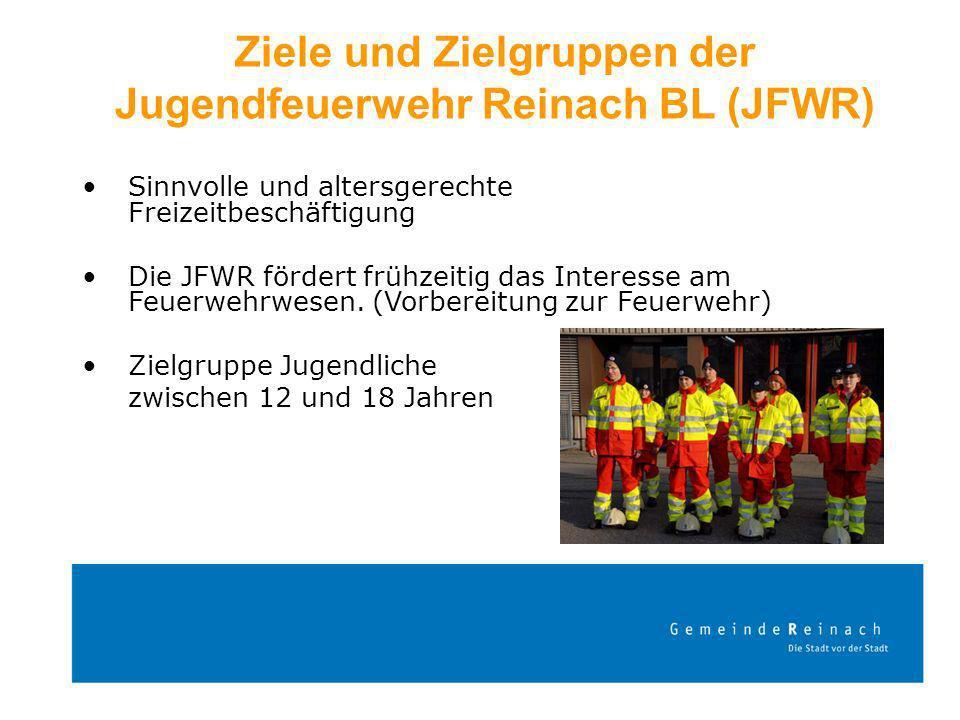 Ziele und Zielgruppen der Jugendfeuerwehr Reinach BL (JFWR)