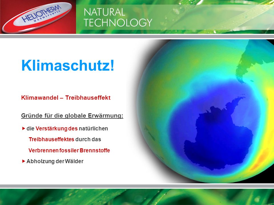 Klimaschutz! Klimawandel – Treibhauseffekt
