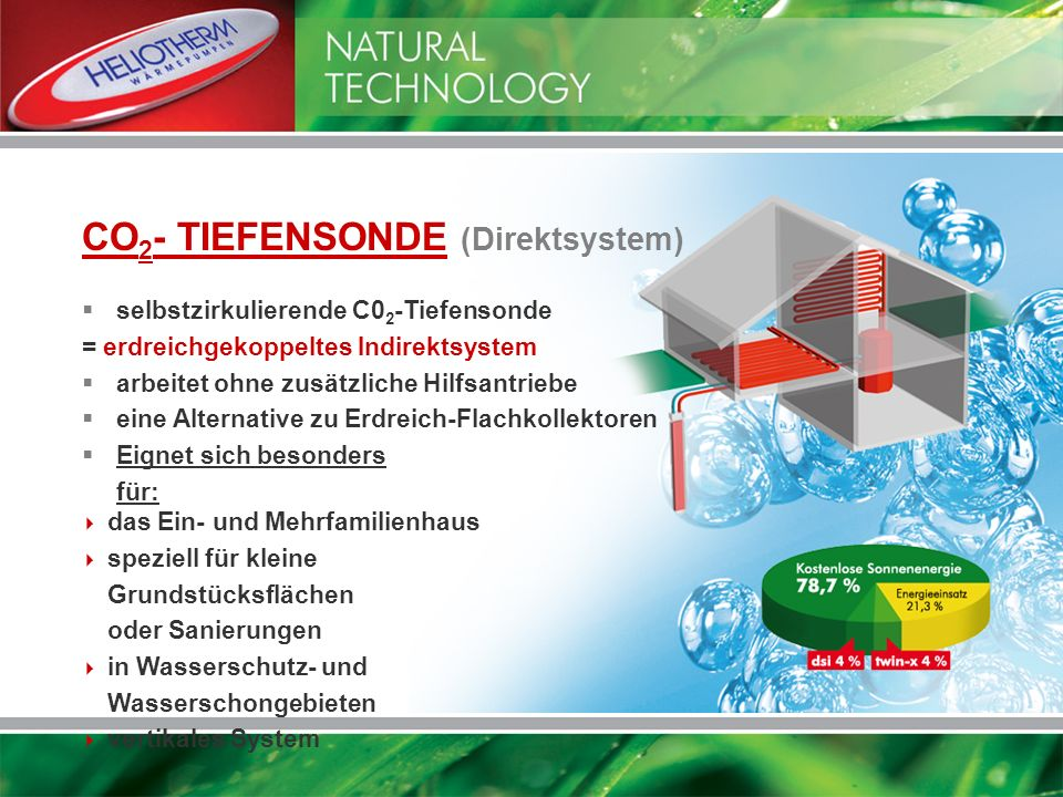 CO2- TIEFENSONDE (Direktsystem)