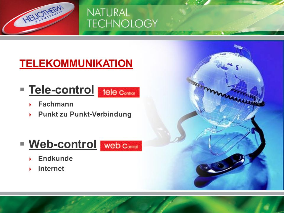 Tele-control: Web-control: TELEKOMMUNIKATION Fachmann