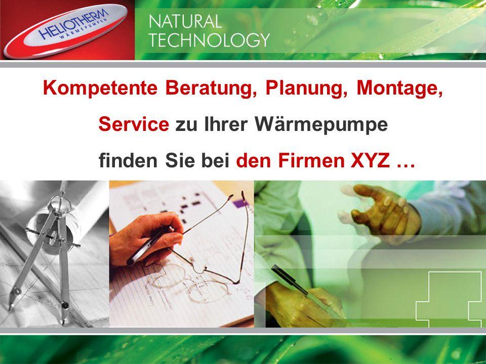 Kompetente Beratung, Planung, Montage, Service zu Ihrer Wärmepumpe