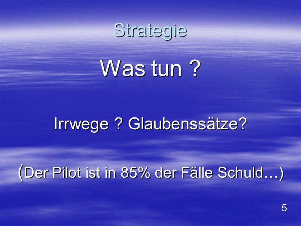 Was tun Strategie (Der Pilot ist in 85% der Fälle Schuld…)