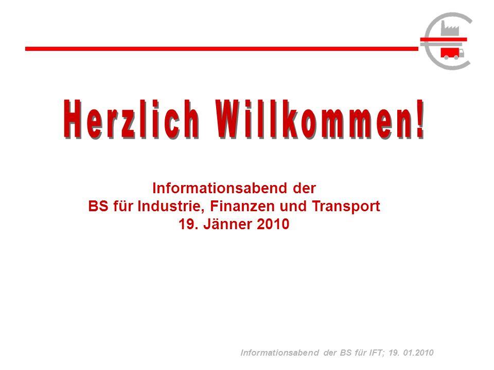 Informationsabend der BS für Industrie, Finanzen und Transport