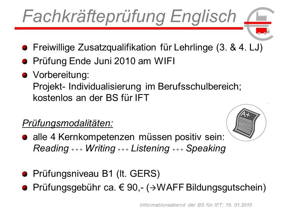 Fachkräfteprüfung Englisch