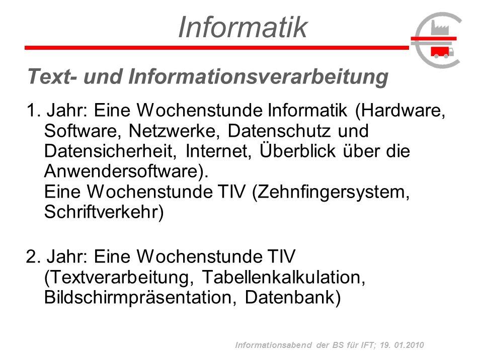 Informatik Text- und Informationsverarbeitung