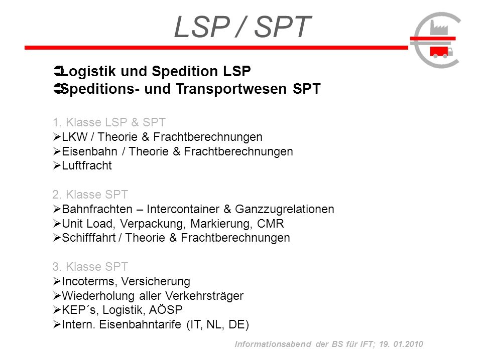 LSP / SPT Logistik und Spedition LSP