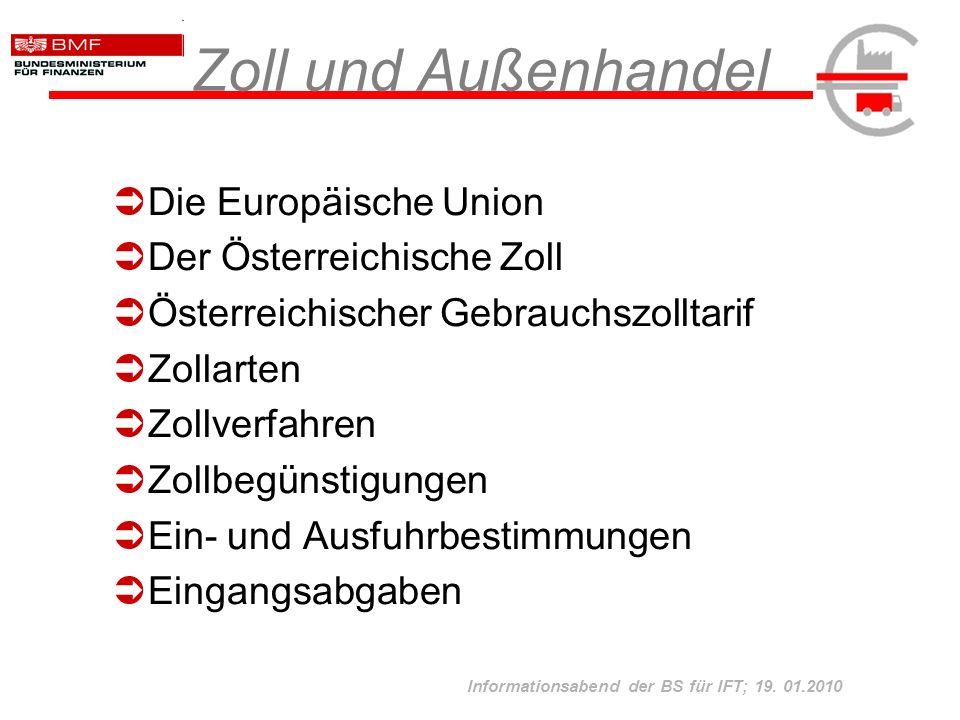 Zoll und Außenhandel Die Europäische Union Der Österreichische Zoll