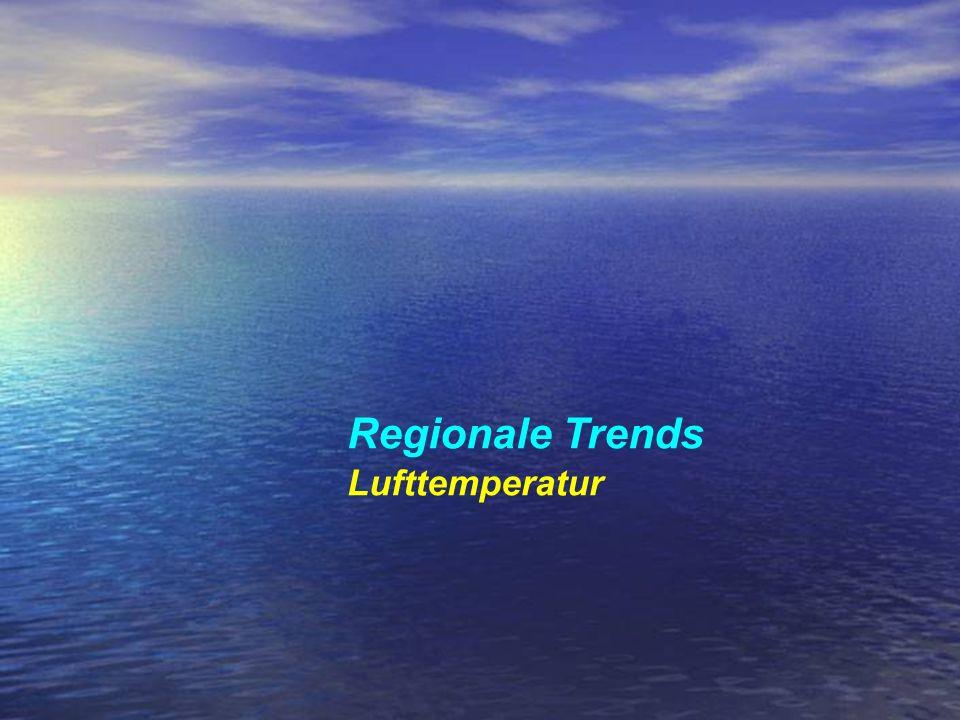 Regionale Trends Lufttemperatur