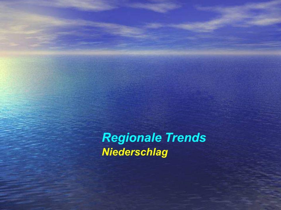 Regionale Trends Niederschlag