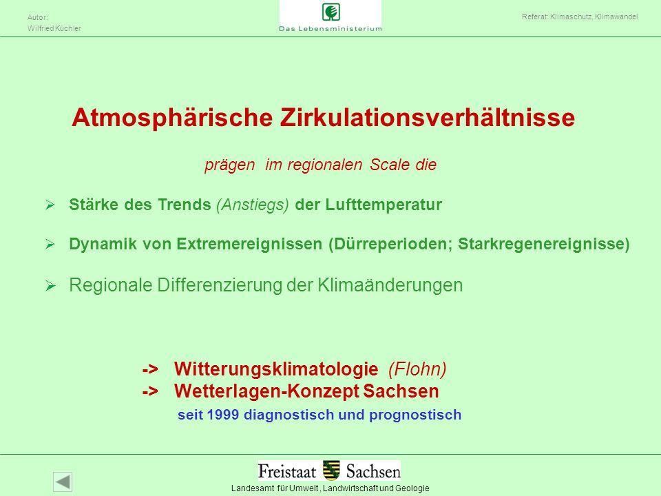 Atmosphärische Zirkulationsverhältnisse
