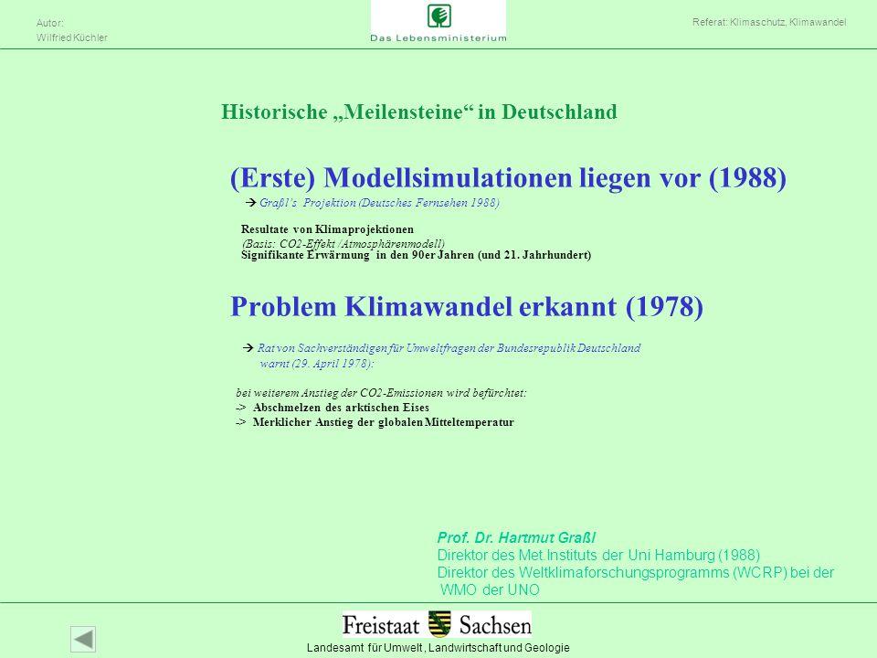(Erste) Modellsimulationen liegen vor (1988)