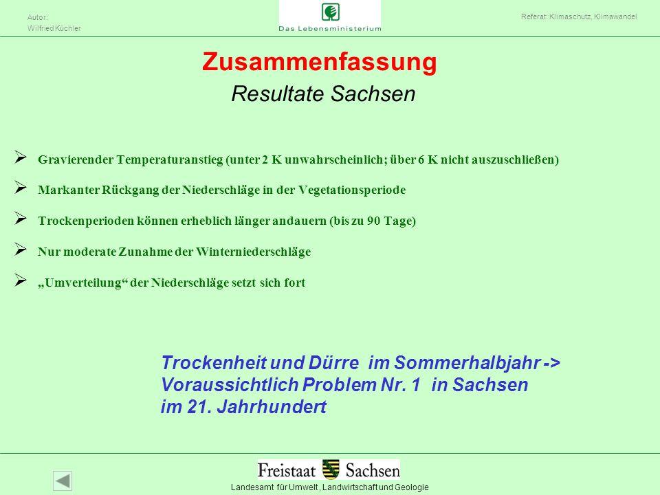 Zusammenfassung Resultate Sachsen
