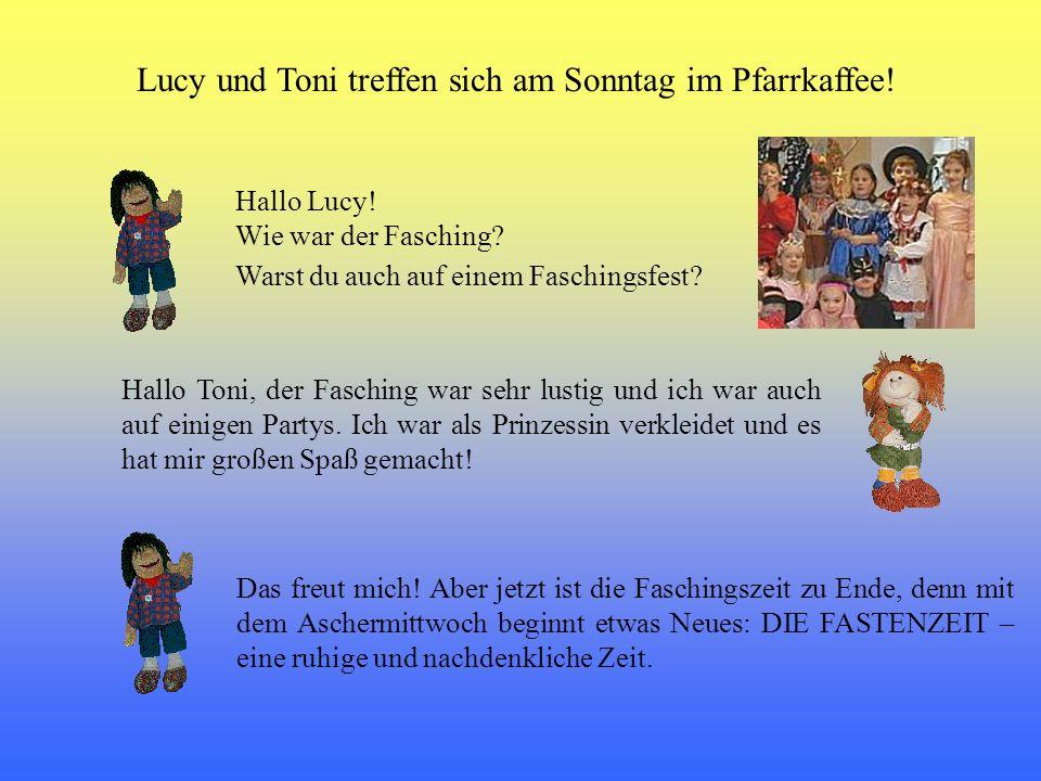 Lucy und Toni treffen sich am Sonntag im Pfarrkaffee!