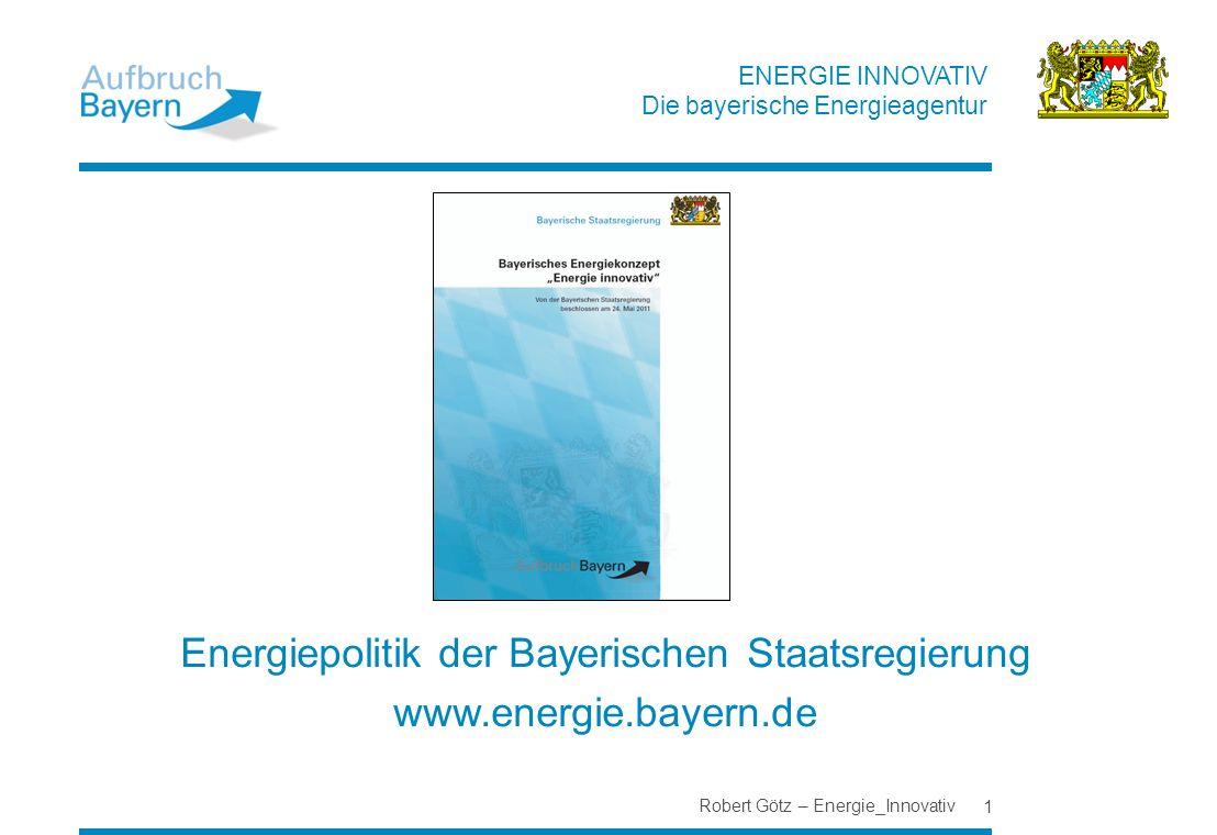 Energiepolitik der Bayerischen Staatsregierung