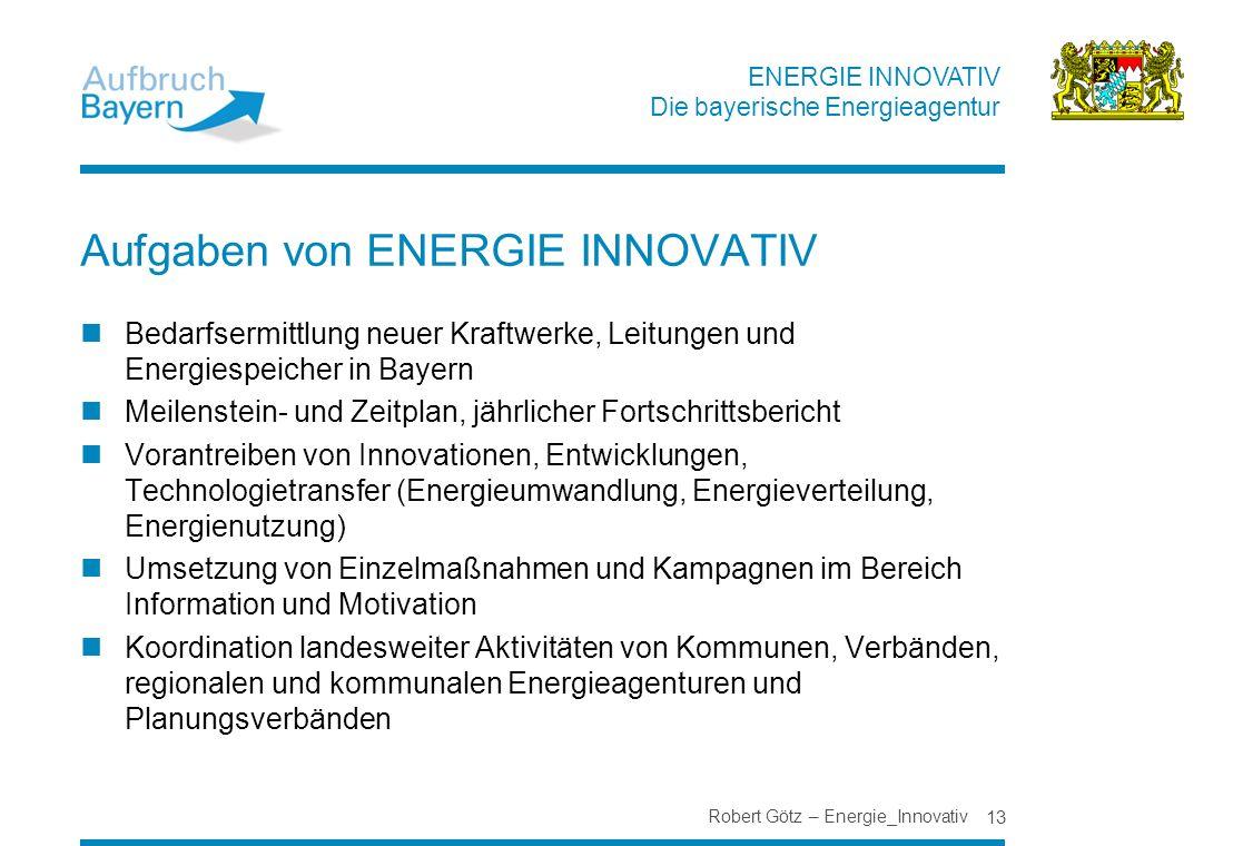 Aufgaben von ENERGIE INNOVATIV