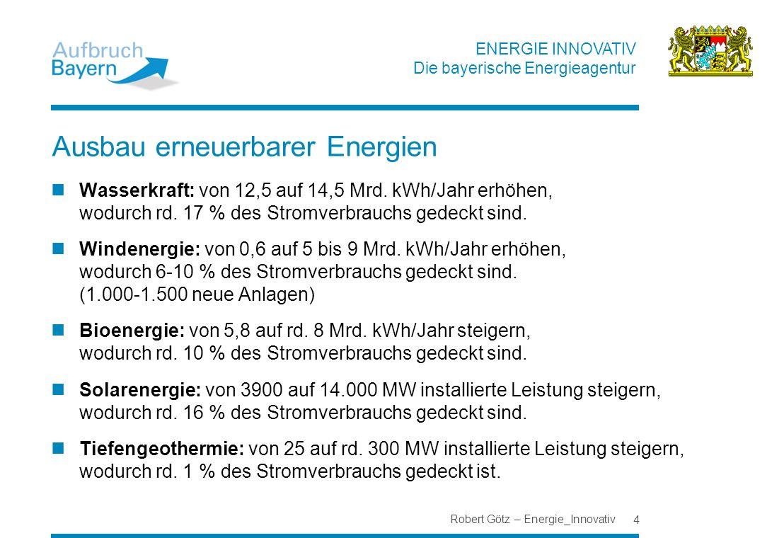 Ausbau erneuerbarer Energien