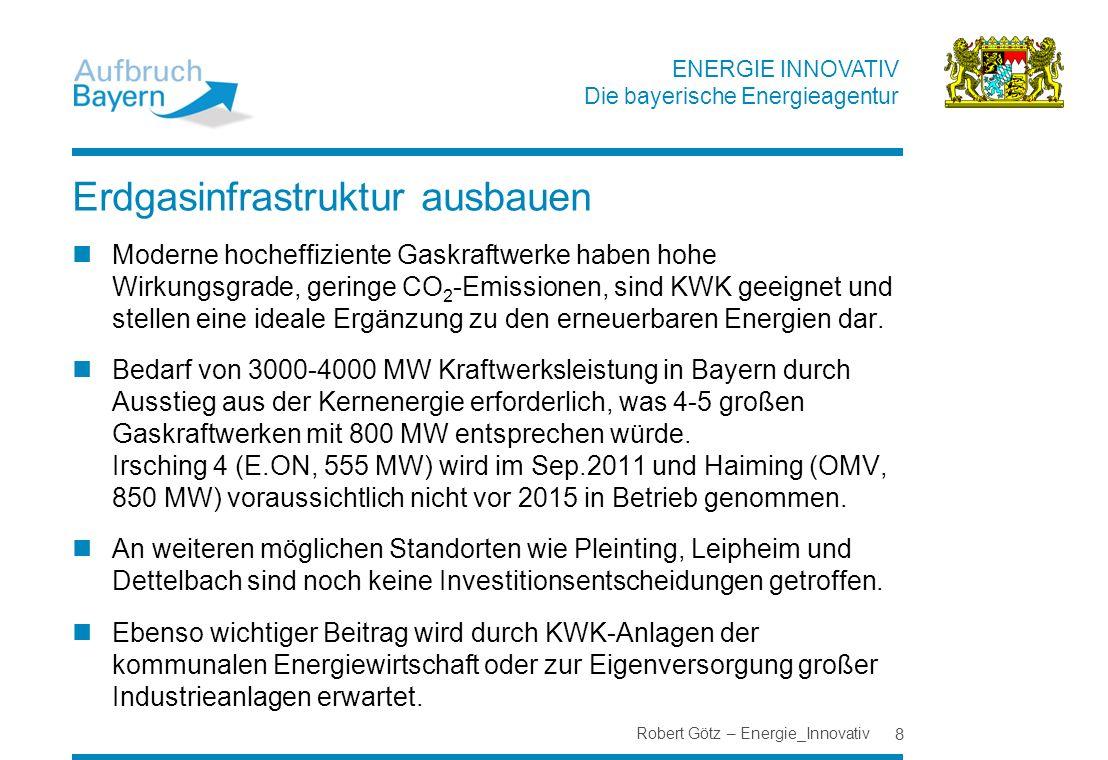 Erdgasinfrastruktur ausbauen
