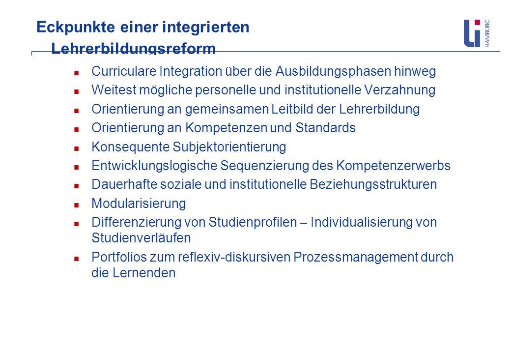 Eckpunkte einer integrierten Lehrerbildungsreform