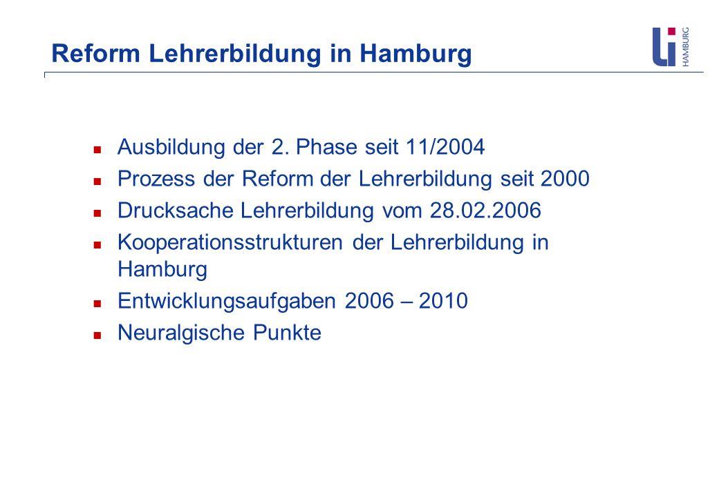 Reform Lehrerbildung in Hamburg