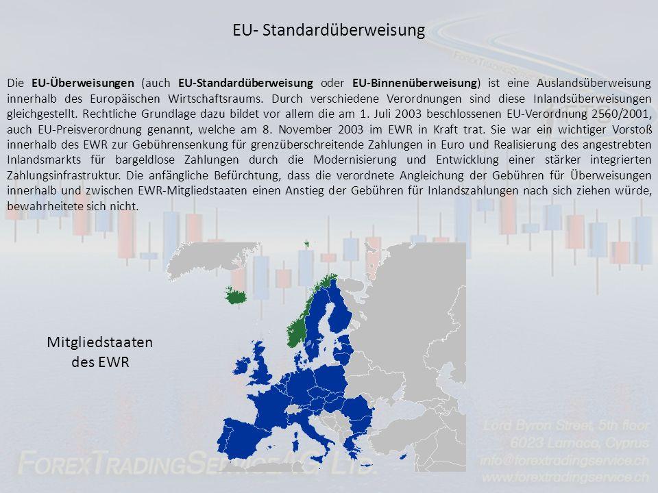 EU- Standardüberweisung