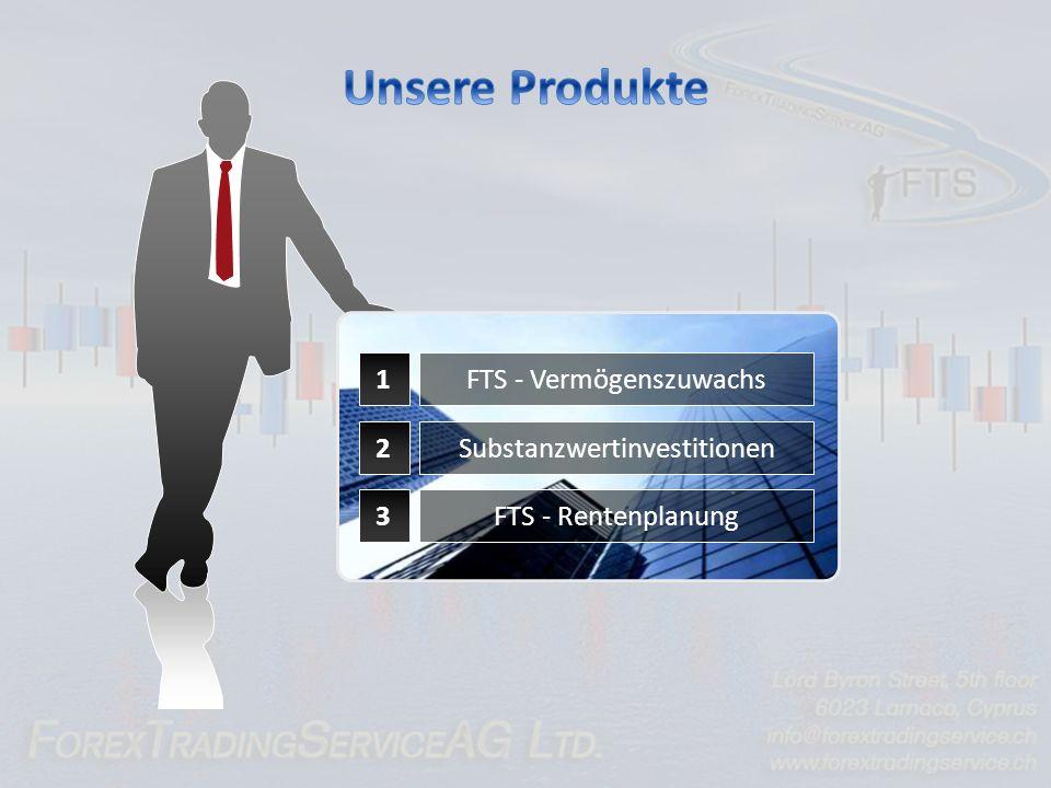 Unsere Produkte 1 2 3 FTS - Vermögenszuwachs Substanzwertinvestitionen