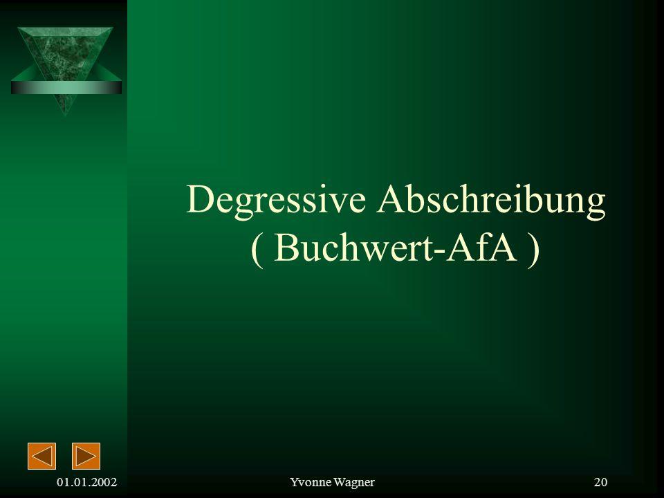 Degressive Abschreibung ( Buchwert-AfA )