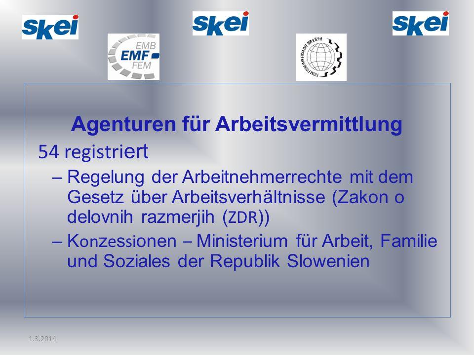 Agenturen für Arbeitsvermittlung