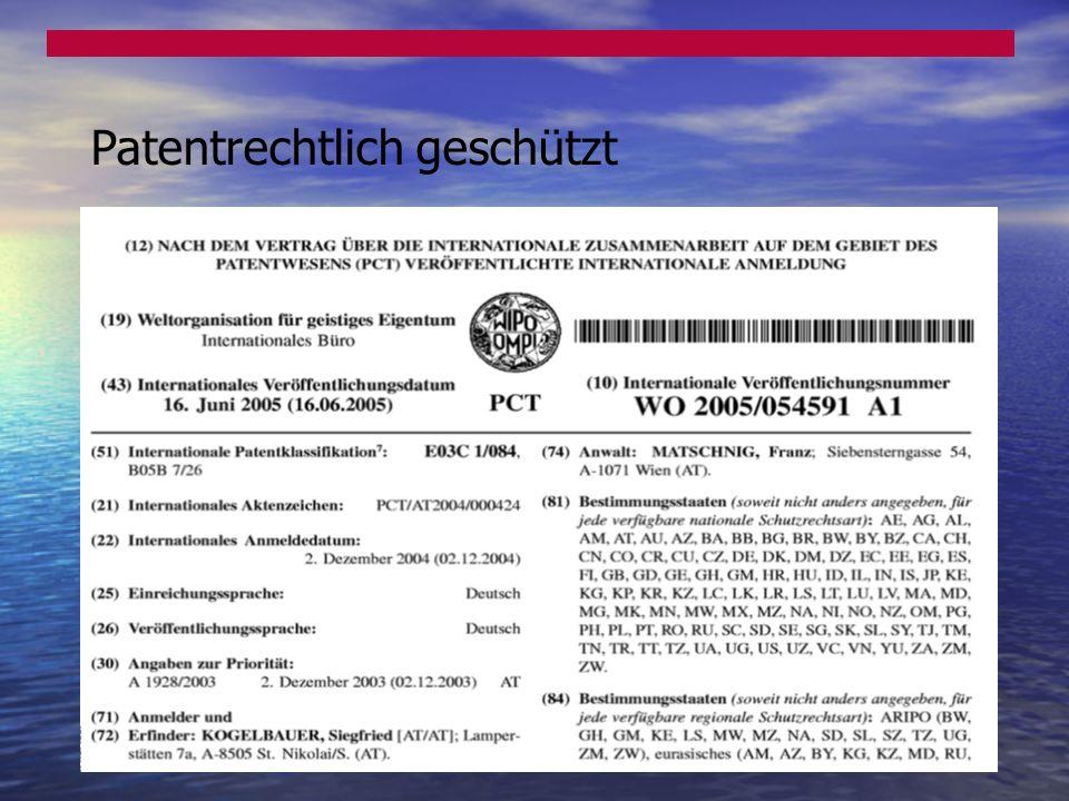 Patentrechtlich geschützt