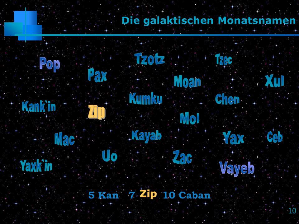 Die galaktischen Monatsnamen