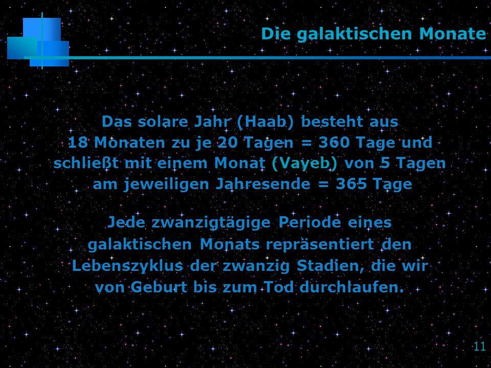 Die galaktischen Monate