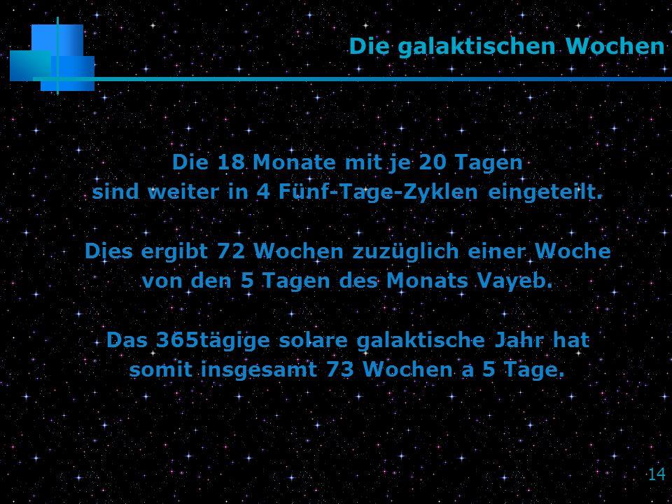 Die galaktischen Wochen