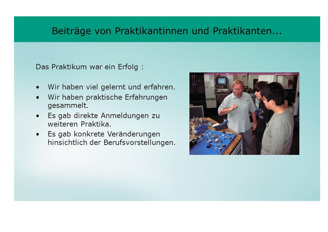Beiträge von Praktikantinnen und Praktikanten...