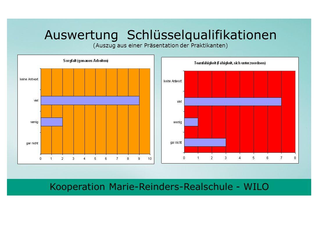 Auswertung Schlüsselqualifikationen