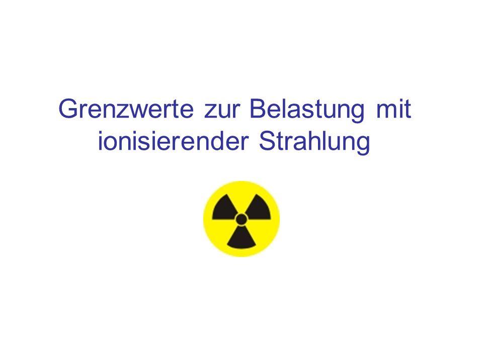 Grenzwerte zur Belastung mit ionisierender Strahlung