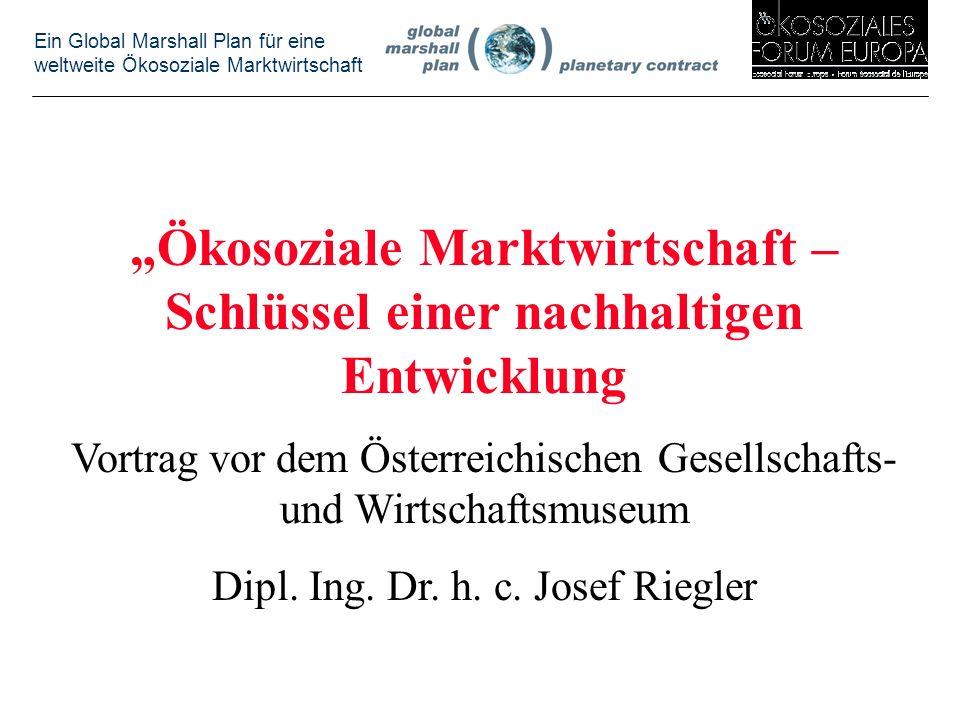"""""""Ökosoziale Marktwirtschaft – Schlüssel einer nachhaltigen Entwicklung"""