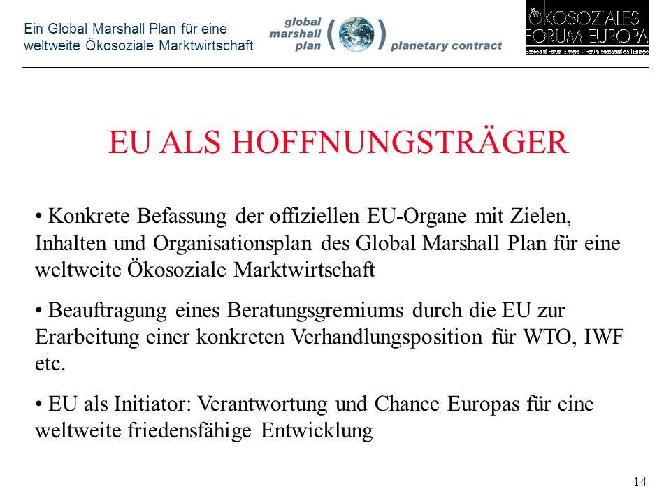 EU ALS HOFFNUNGSTRÄGER