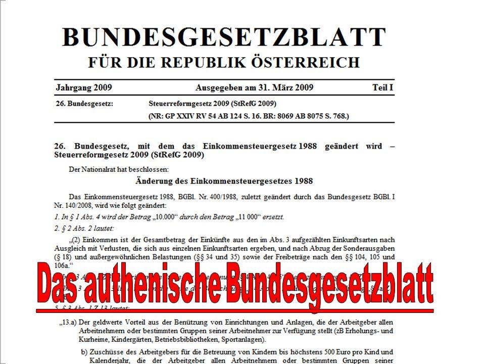 Das authenische Bundesgesetzblatt