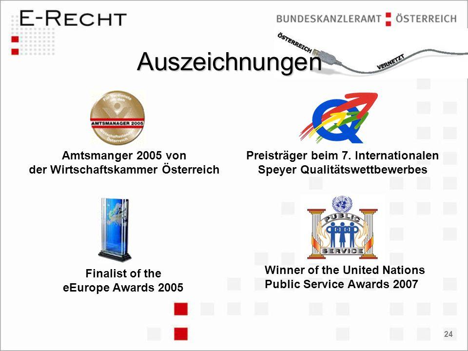 Auszeichnungen Amtsmanger 2005 von der Wirtschaftskammer Österreich