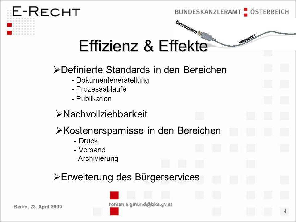 Effizienz & Effekte Definierte Standards in den Bereichen